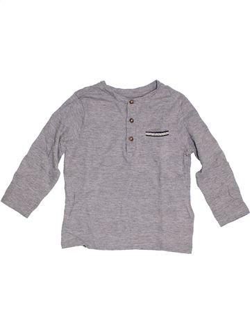 T-shirt manches longues garçon SERGENT MAJOR gris 4 ans hiver #1285444_1