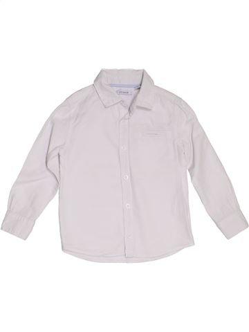 Camisa de manga larga niño OKAIDI blanco 4 años invierno #1285454_1