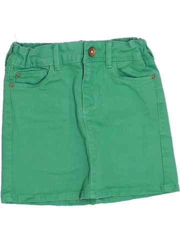 Falda niña OKAIDI verde 4 años verano #1285694_1