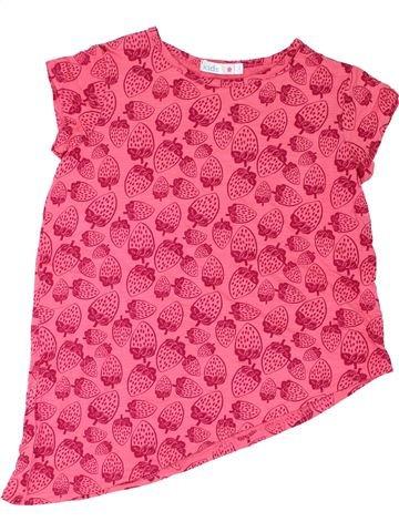 T-shirt manches courtes fille M&CO rose 9 ans été #1286914_1