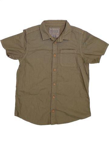 Chemise manches courtes garçon DUDES marron 10 ans été #1288231_1