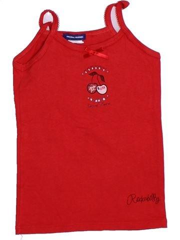 T-shirt sans manches fille ORIGINAL MARINES rouge 3 ans été #1288771_1