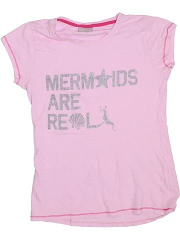 T-shirt manches courtes fille I LOVE GIRLSWEAR rose 13 ans été #1289232_1
