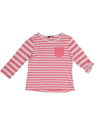 T-shirt manches longues fille GEORGE rose 9 ans été #1289587_1