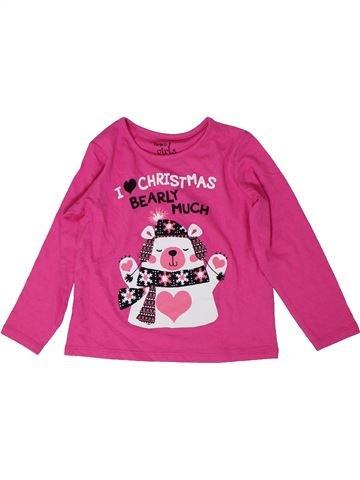 T-shirt manches longues fille PEP&CO violet 3 ans hiver #1289629_1