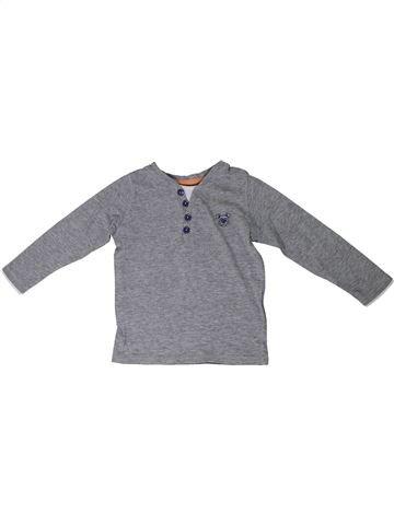 T-shirt manches longues garçon DOPODOPO gris 2 ans hiver #1290189_1