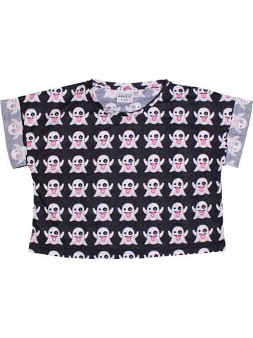 T-shirt manches courtes fille M&CO blanc 13 ans été #1291842_1