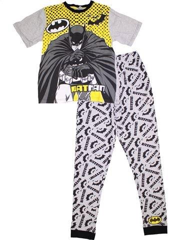 Pyjama 2 pièces garçon SUPERS HÉROS blanc 12 ans été #1294940_1