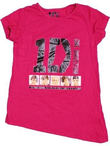 T-shirt manches courtes fille ONE DIRECTION rose 10 ans été #1295017_1