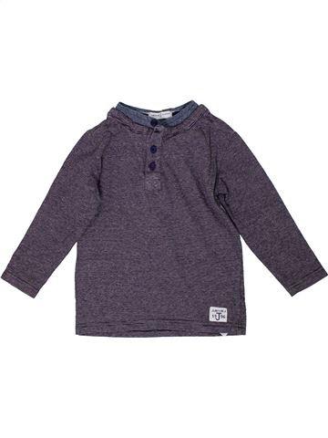 T-shirt manches longues garçon JASPER CONRAN violet 4 ans hiver #1295504_1