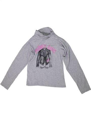 T-shirt col roulé fille ORIGINAL MARINES gris 10 ans hiver #1297185_1