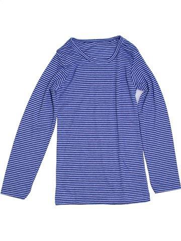 Camiseta de manga larga niño SANS MARQUE violeta 10 años invierno #1297252_1