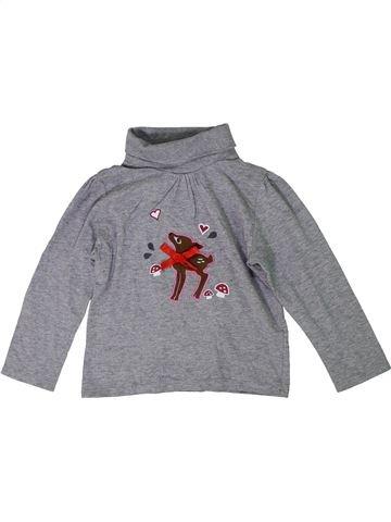 Camiseta de cuello alto niña LUPILU gris 4 años invierno #1297616_1