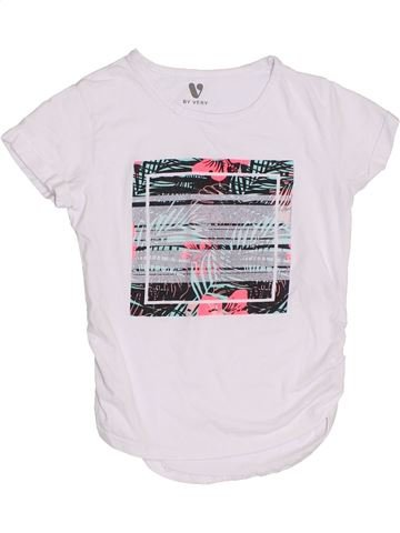 T-shirt manches courtes fille V BY VERY blanc 10 ans été #1298810_1