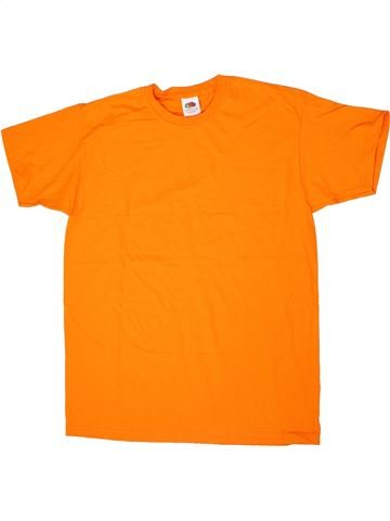Camiseta de manga corta niño FRUIT OF THE LOOM naranja 13 años verano #1299621_1