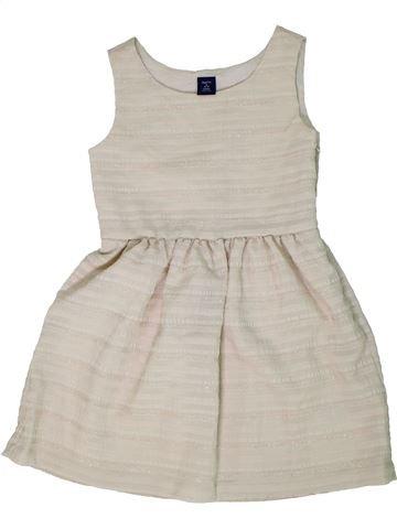 Vestido niña GAP beige 7 años verano #1299933_1