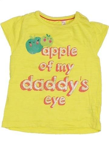 Camiseta de manga corta niña MINI B amarillo 12 meses verano #1300541_1