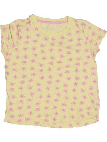 T-shirt manches courtes fille NUTMEG jaune 5 ans été #1300713_1