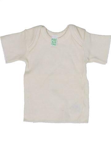 T-shirt manches courtes unisexe PRENATAL blanc 1 mois été #1300875_1