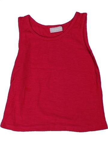 T-shirt sans manches fille I LOVE GIRLSWEAR rouge 5 ans été #1301358_1