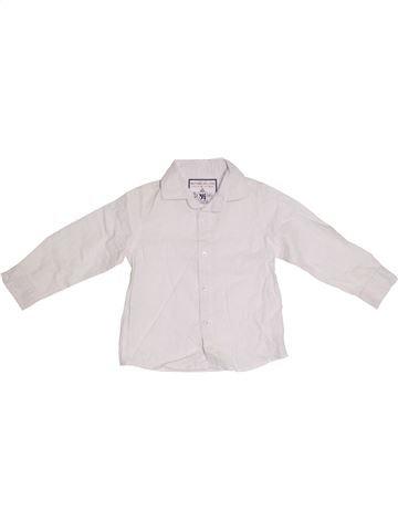 Chemise manches longues garçon NOTTING HILL HERITAGE blanc 3 ans été #1301386_1