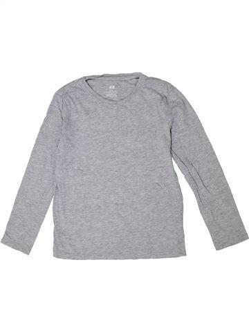 Camiseta de manga larga niño H&M gris 8 años invierno #1301985_1