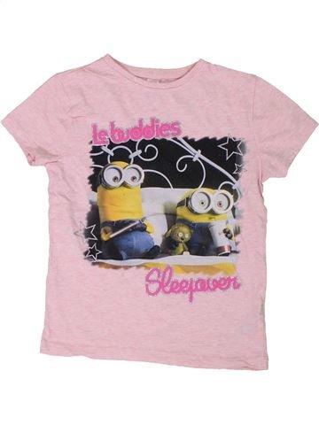 Camiseta de manga corta niña LES MINIONS rosa 7 años verano #1301990_1