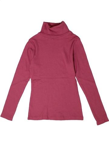 T-shirt col roulé fille I LOVE GIRLSWEAR rose 8 ans hiver #1302019_1