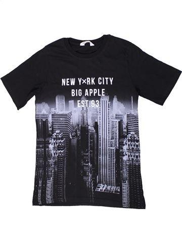 T-shirt manches courtes garçon H&M bleu foncé 12 ans été #1302167_1