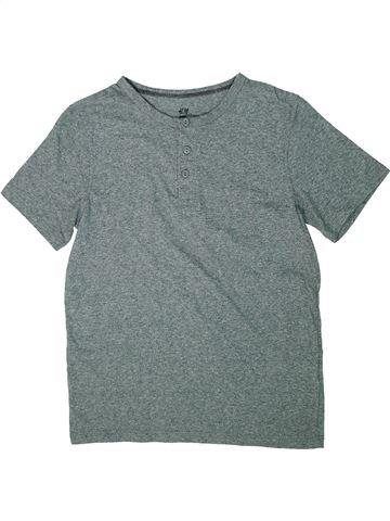 T-shirt manches courtes garçon H&M gris 12 ans été #1302223_1