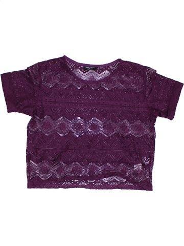 Camiseta de manga corta niña NEW LOOK violeta 14 años verano #1302372_1