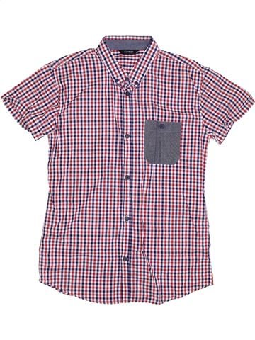Chemise manches courtes garçon GEORGE violet 14 ans été #1302374_1