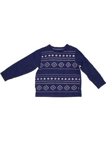 T-shirt manches longues garçon BOYS bleu 4 ans hiver #1302519_1
