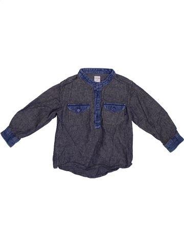 Chemise manches longues garçon POLARN O PYRET bleu 2 ans hiver #1302553_1