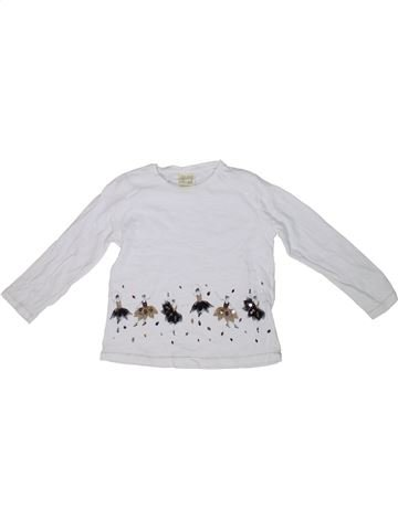 T-shirt manches longues fille ZARA blanc 4 ans hiver #1302567_1