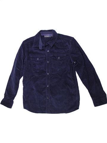 Chemise manches longues garçon FLIPBACK bleu 11 ans hiver #1302724_1