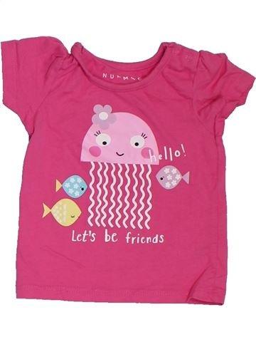 Camiseta de manga corta niña NUTMEG rosa 6 meses verano #1302883_1