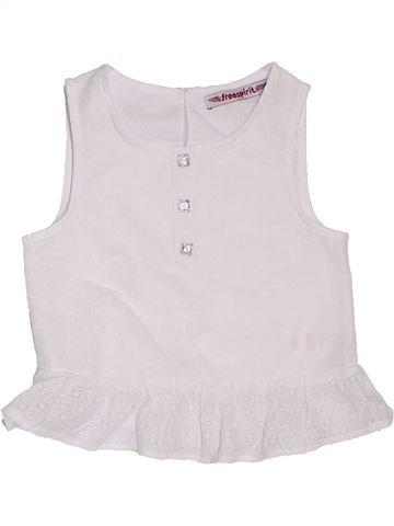Blusa de manga corta niña FREESPIRIT blanco 6 años verano #1302965_1