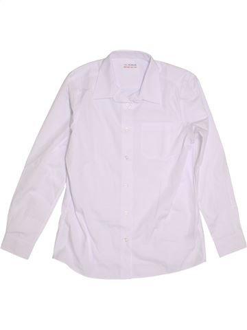 Chemise manches longues garçon MARKS & SPENCER blanc 13 ans hiver #1303855_1