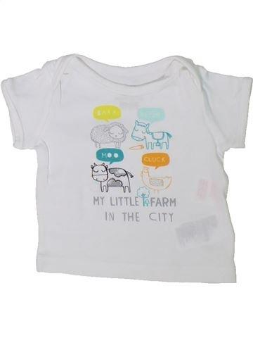 T-shirt manches courtes unisexe H&M blanc 1 mois été #1304179_1