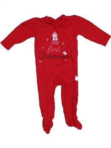 Pijama de 1 pieza niña GEORGE rojo 9 meses verano #1304192_1