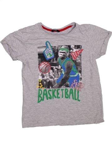 T-shirt manches courtes garçon GEORGE gris 13 ans été #1304222_1