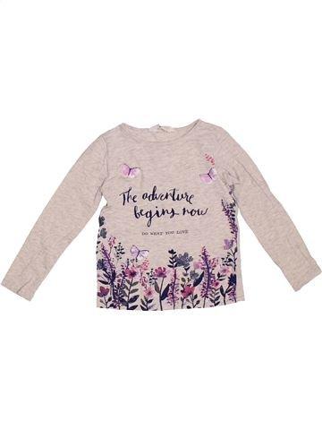 T-shirt manches longues fille H&M rose 4 ans hiver #1304249_1