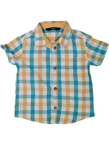 Chemise manches courtes garçon GEORGE beige 18 mois été #1304383_1