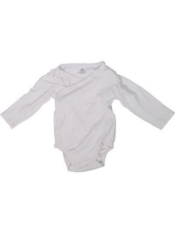 Camiseta de manga larga niña H&M blanco 9 meses invierno #1304400_1