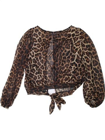 Blouse manches longues fille NEW LOOK marron 13 ans hiver #1304487_1