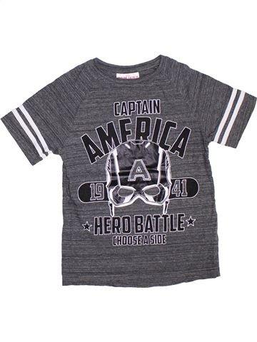 T-shirt manches courtes garçon SUPERS HÉROS gris 7 ans été #1304686_1