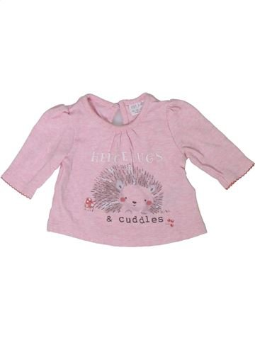 T-shirt manches longues fille F&F rose naissance hiver #1304951_1