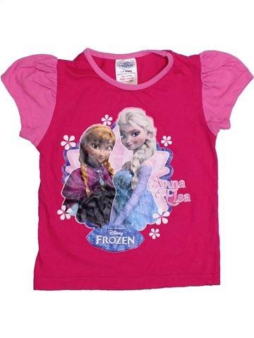 Camiseta de manga corta niña DISNEY rosa 4 años verano #1304988_1