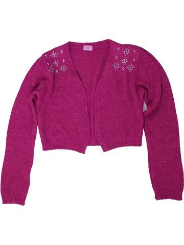 Gilet fille F&F violet 10 ans hiver #1305058_1